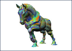 Monumental Horse 3D Scan Passes
